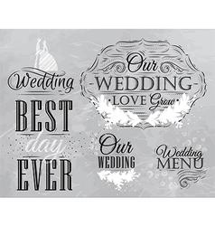 Wedding Set coal vector image