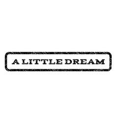 A little dream watermark stamp vector