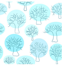 beautiful seamless pattern of hand drawn doodle vector image vector image