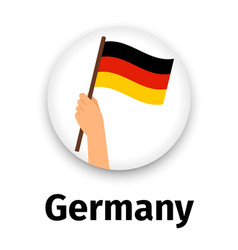 germany flag in hand round icon vector image