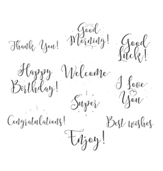 Good luck enjoy happy birthday Set of modern vector image vector image