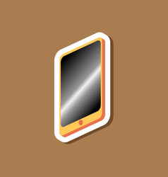 paper sticker on stylish background mobile phone vector image vector image