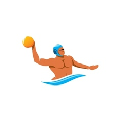 Water polo player sign vector image vector image