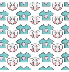 baby diaper thet use unterwear and t-shirt vector image