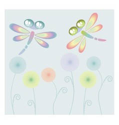 Coloured dragon-fly vector image vector image