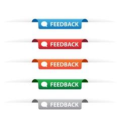 Feedback paper tag labels vector image vector image