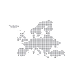 Grey Map Europe In The Dot vector image