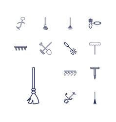 13 rake icons vector