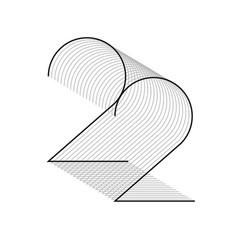 22 line vector image