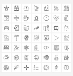 49 editable line icons and modern symbols oil vector image