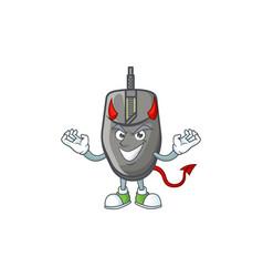 A cruel devil black mouse cartoon character design vector