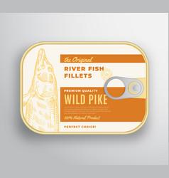 abstract river fish fillets aluminium vector image