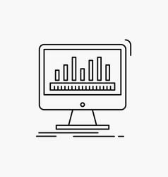 Analytics processing dashboard data stats line vector