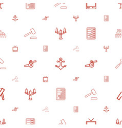 antique icons pattern seamless white background vector image