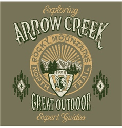 Arrow Creek the great outdoo vector image