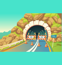 Cartoon Tunnel Highway Vector Images (21)
