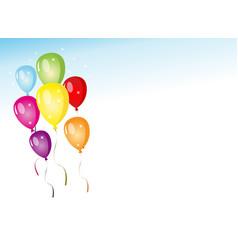 Balloons party vector