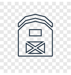 barn concept linear icon isolated on transparent vector image