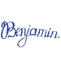 Benjamin name lettering tinsels vector