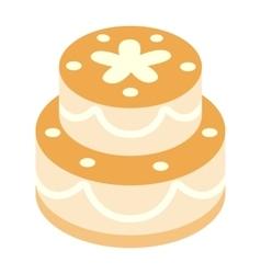 Birthday cake isometric 3d icon vector image