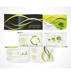Blank catalog horizontal format corporate brochure vector