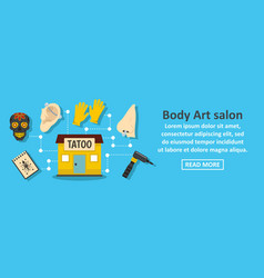 body art salon banner horizontal concept vector image