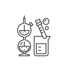 chemistry line icon concept chemistry vector image