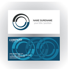 circle company logo business card vector image
