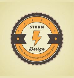 Colorful vintage hipster logo design template vector