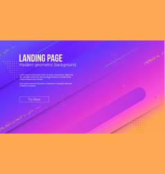 concept landing page website with dynamic vector image