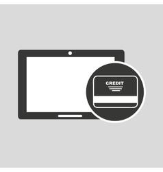 concept money tablet digital graphic vector image