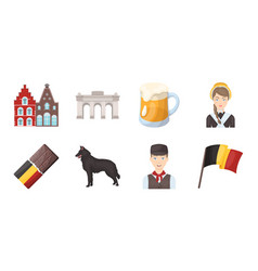 Country belgium icons in set collection for design vector