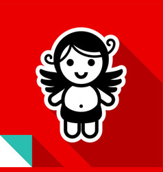 Cupid color square vector