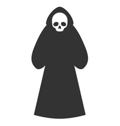 death hood man flat icon vector image