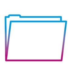 Degraded line folder file office data information vector