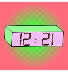 Digital watch pop art vector image