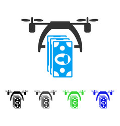 Drone payment flat icon vector