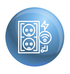 Electrical outlet icon outline style vector