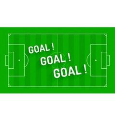 Football textured green field background vector