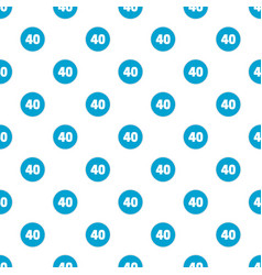 Forty figure pattern seamless vector
