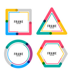 geometric colors lines frame design vector image