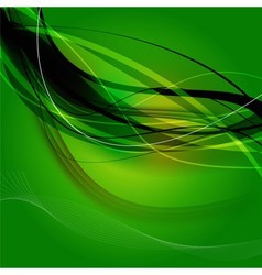 Green wave curve background vector