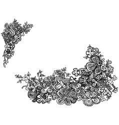 Hand drawn shamrock clover doodles vector image