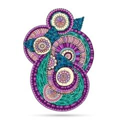Henna Paisley Mehndi Doodles Floral Element vector image