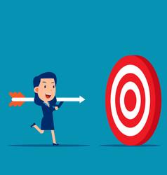 Hold big arrow and go to accuracy reach aim the vector