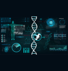 Hud dna infographic interface vector