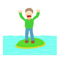 Hydrophobia concept cartoon vector