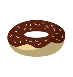 isolated delicious glaze donut vector image