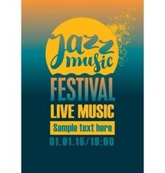 Jazz festival poster vector