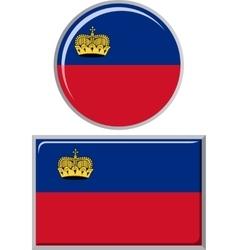 Liechtenstein round and square icon flag vector